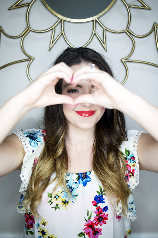 care for our ombre hair heart