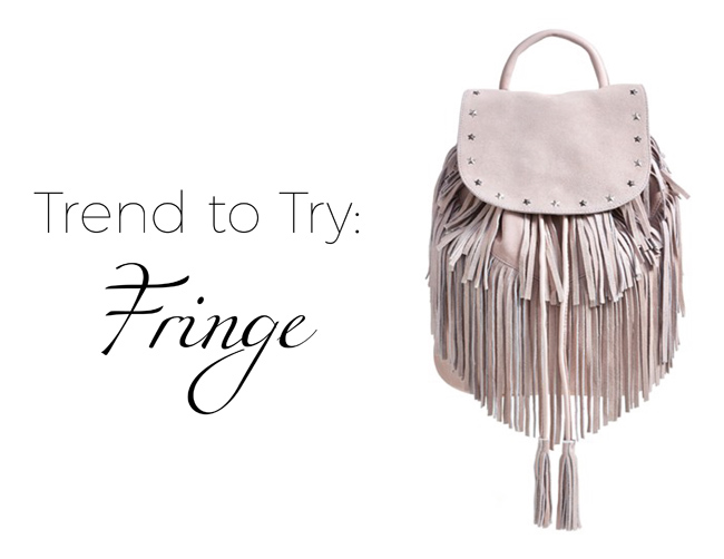 Trend to Try: Fringe Accessories