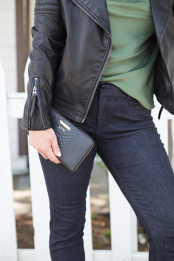 Office to Night Out look with Banana Republic Sloan Denim Pants Via @maeamor