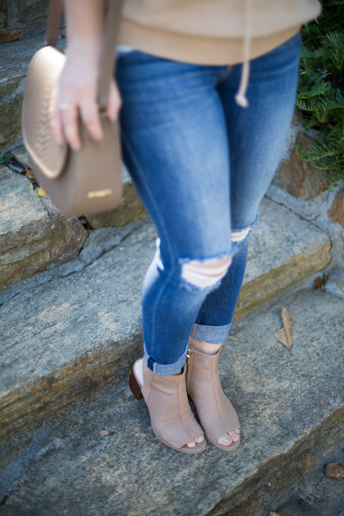 DSW New Western Open Toe Booties - via @maeamor