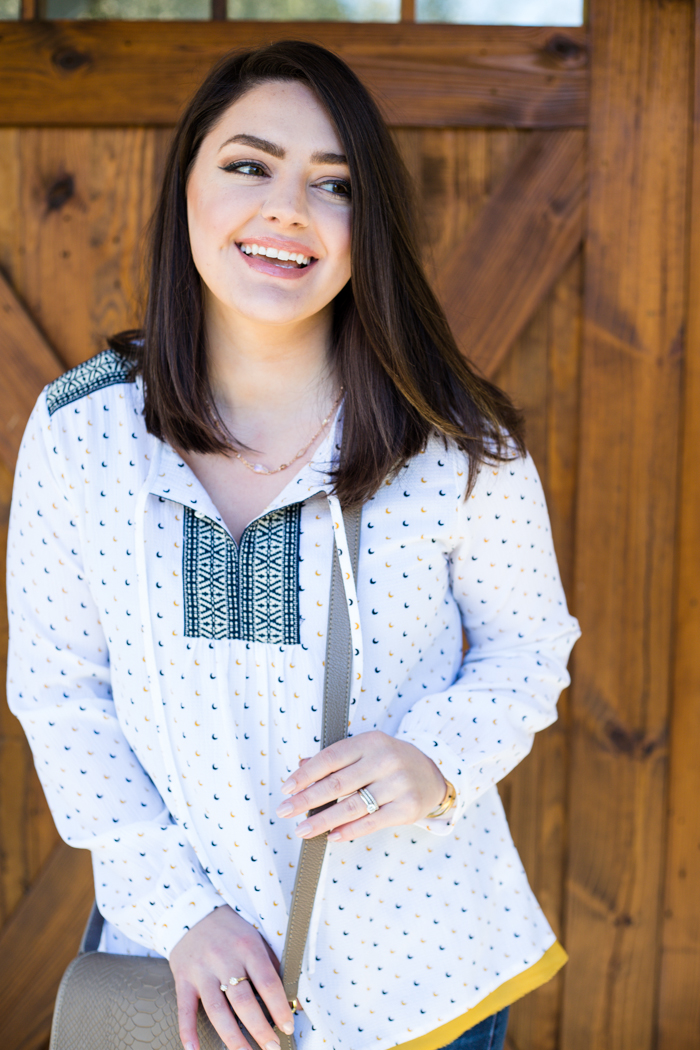 THML Moon Blouse and OTK Boots - via @maeamor
