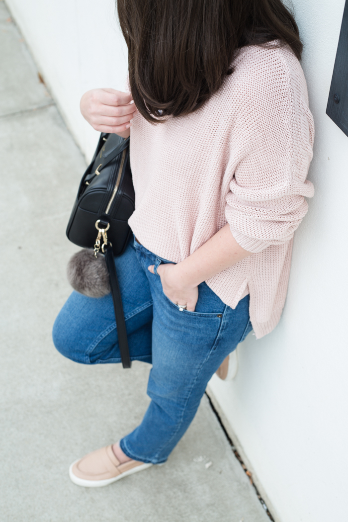 Pink Cozy Knit Sweater - via @maeamor