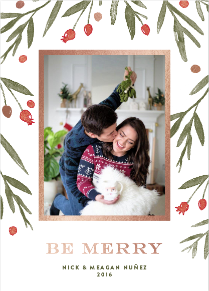 Holiday Cards 2016 and Merry Christmas from Nick and Meagan - @maeamor + @minted