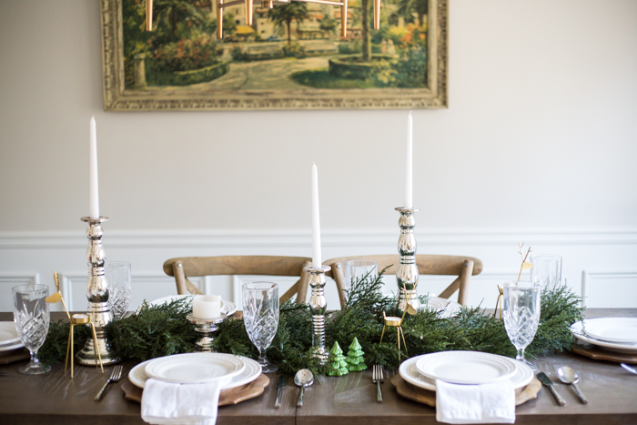 Winter Tablescape and How to be a Good Hostess - via @maeamor
