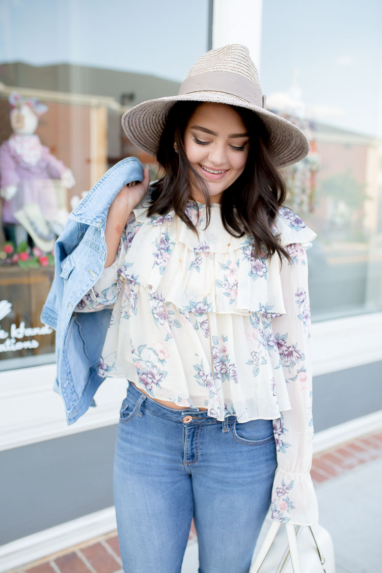 Tiered Ruffle Blouse | via @maeamor