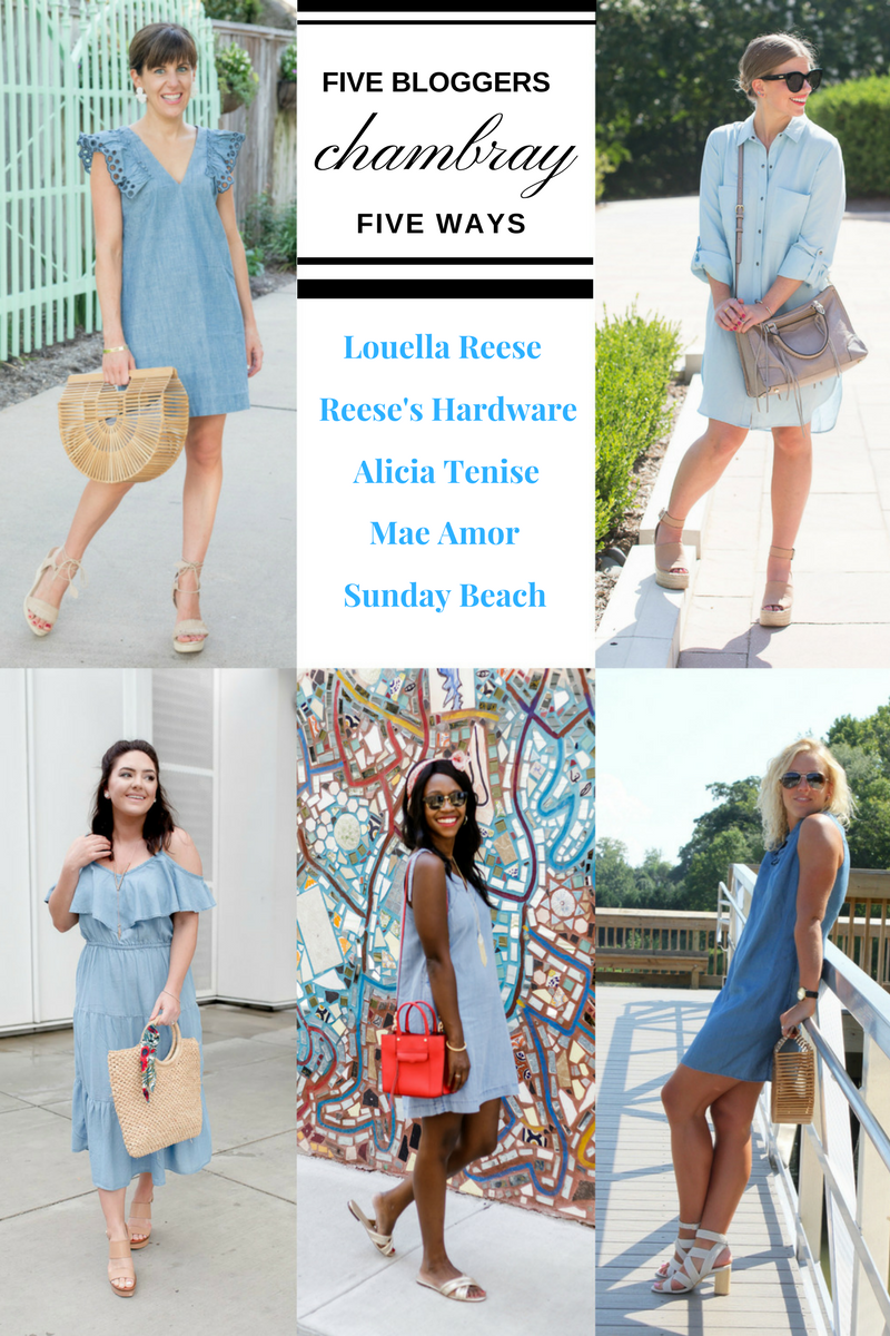 Five Bloggers Collaboration | Chambray Five Ways | How to Wear Chambray in the Summer | via @maeamor