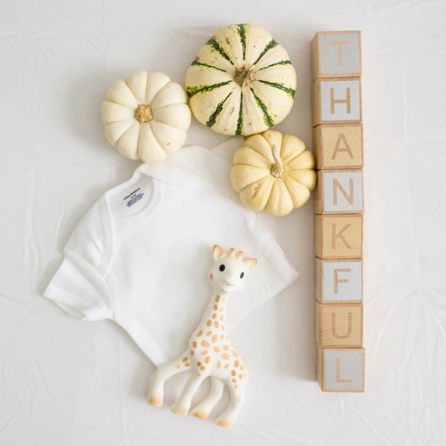 THANKFUL baby flatlay - black friday cyber week cyber monday sale roundup